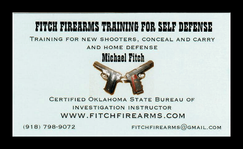 Fitch Firearms Training for Self Defense